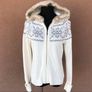 Ann Taylor Loft sweater jacket with hood